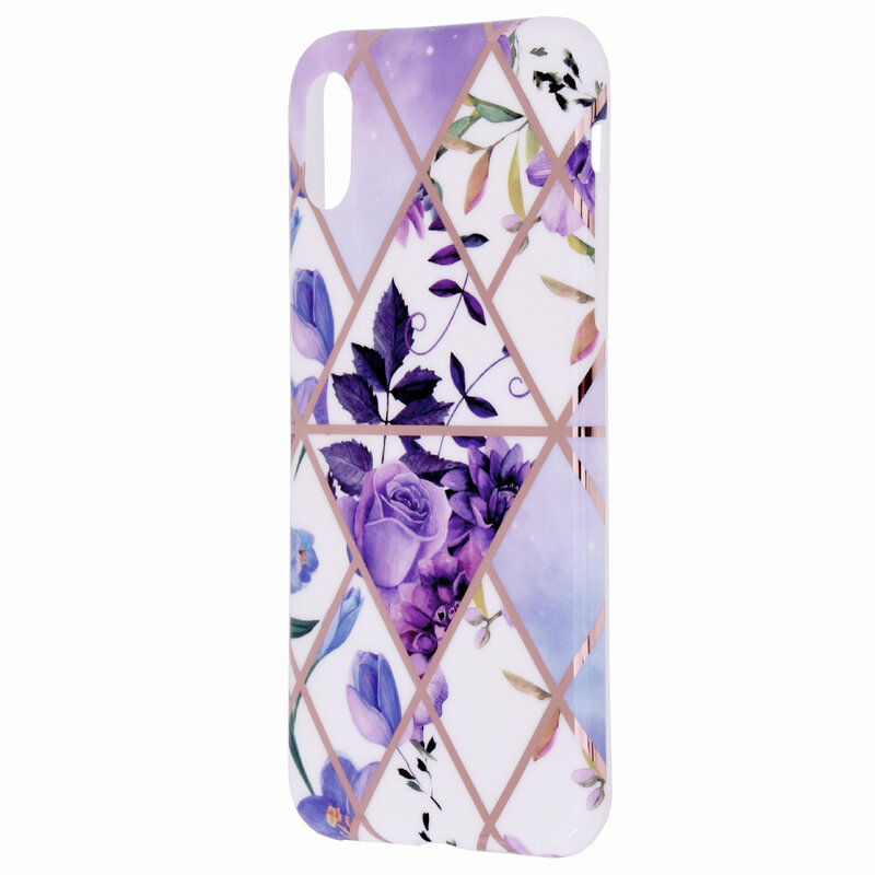 Husa iPhone XS Mobster Laser Marble Shockproof TPU - Model 2