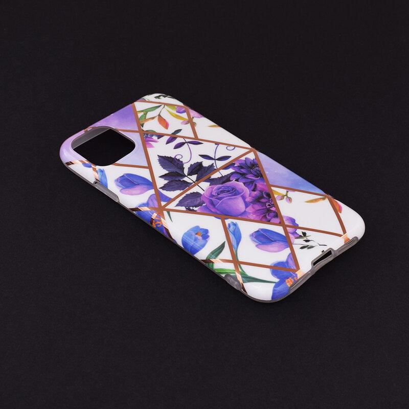 Husa iPhone 11 Mobster Laser Marble Shockproof TPU - Model 2