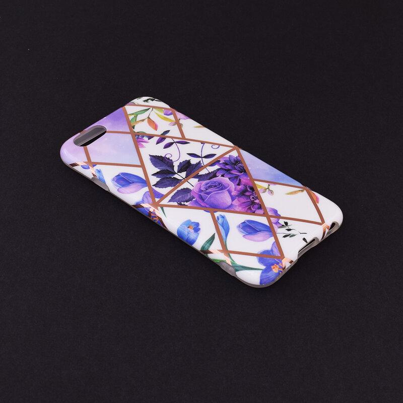 Husa iPhone 6 / 6S Mobster Laser Marble Shockproof TPU - Model 2