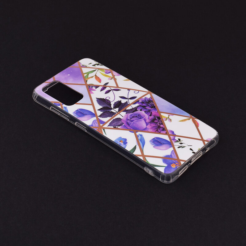 Husa Samsung Galaxy S20 5G Mobster Laser Marble Shockproof TPU - Model 2