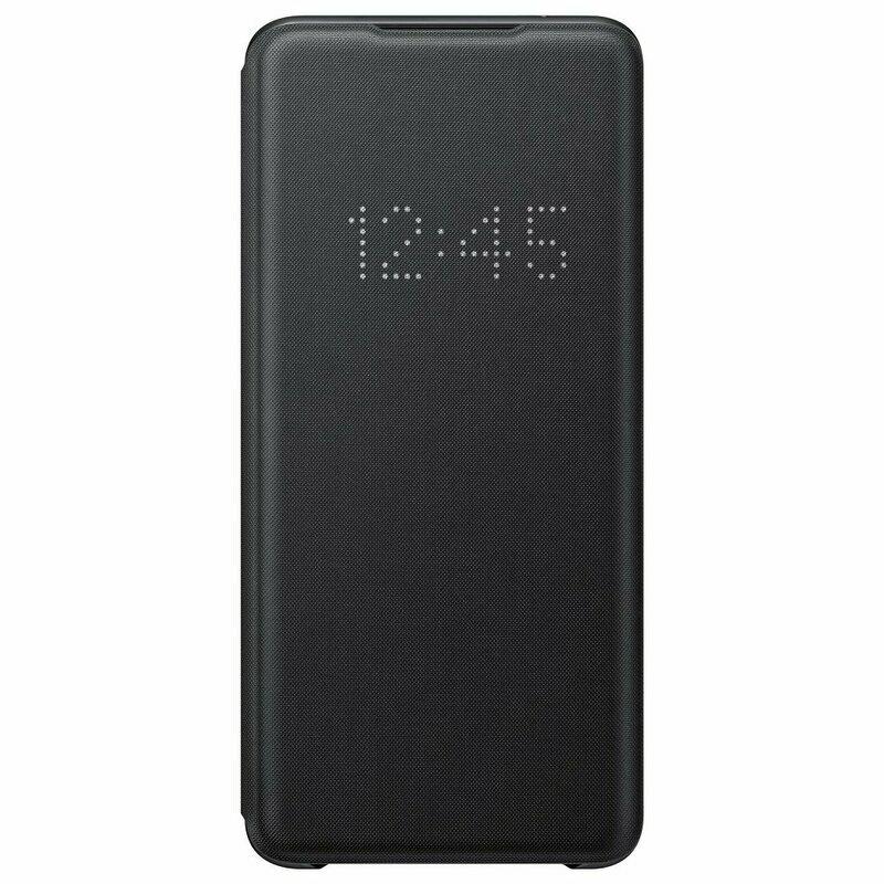 Husa Originala Samsung Galaxy S20 Ultra 5G Smart Led View Cover - Negru