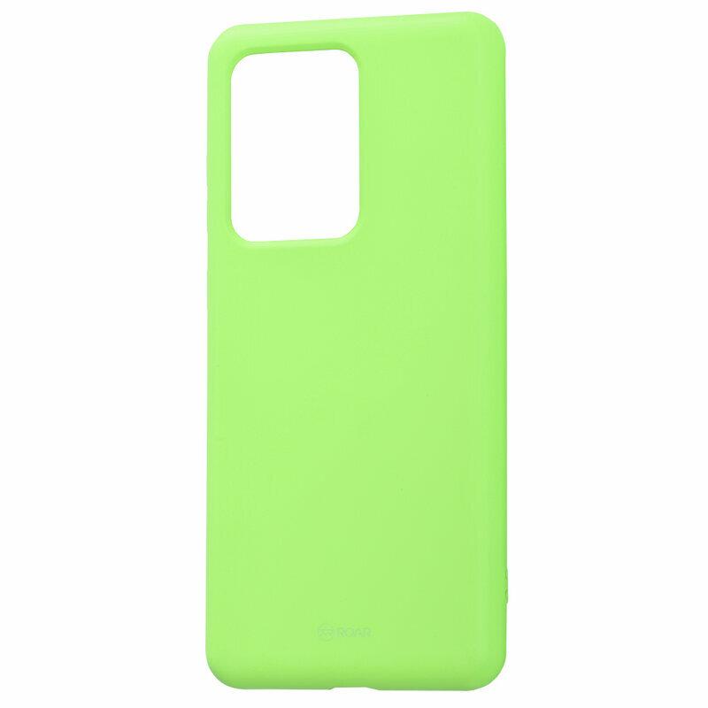 Husa Samsung Galaxy S20 Ultra 5G Roar Colorful Jelly Case - Verde Mat