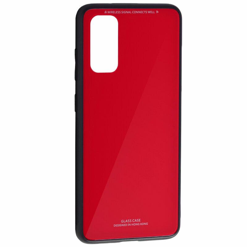 Husa Samsung Galaxy S20 5G Glass Series - Rosu