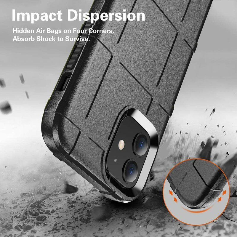 Husa iPhone 12 Mobster Rugged Shield - Negru