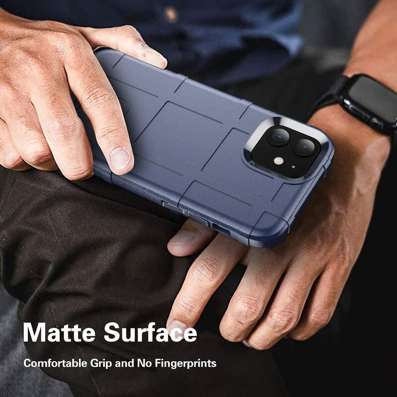 Husa iPhone 12 Mobster Rugged Shield - Albastru