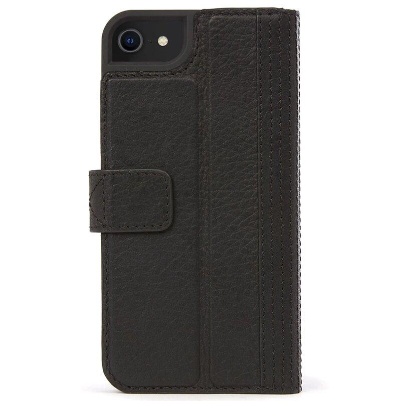 Husa iPhone 8 Decoded Wallet Case Cu Inchidere Magnetica Din Piele Ecologica - Negru