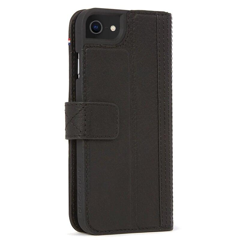 Husa iPhone 6 / 6S Decoded Wallet Case Cu Inchidere Magnetica Din Piele Ecologica - Negru
