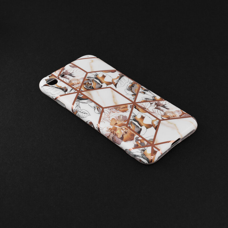 Husa iPhone 8 Mobster Laser Marble Shockproof TPU - Model 1