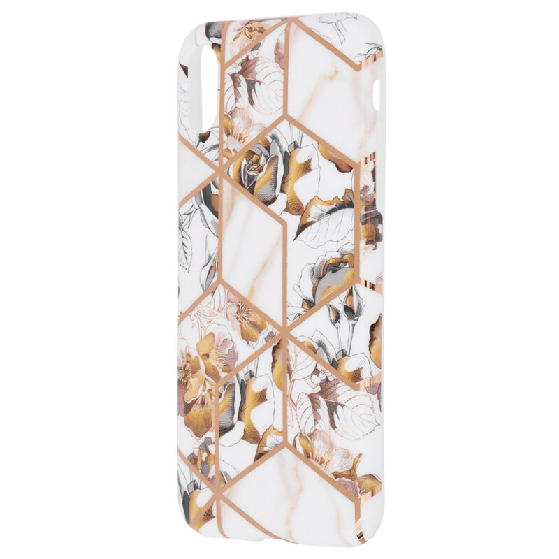 Husa iPhone XS Mobster Laser Marble Shockproof TPU - Model 1
