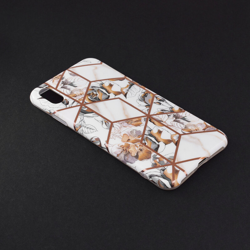 Husa iPhone XS Max Mobster Laser Marble Shockproof TPU - Model 1