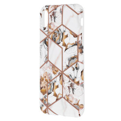 Husa iPhone XR Mobster Laser Marble Shockproof TPU - Model 1