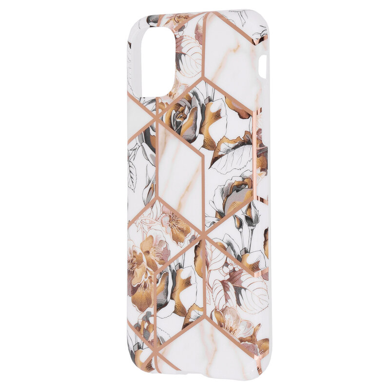 Husa iPhone 11 Mobster Laser Marble Shockproof TPU - Model 1