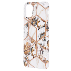 Husa iPhone 11 Pro Max Mobster Laser Marble Shockproof TPU - Model 1