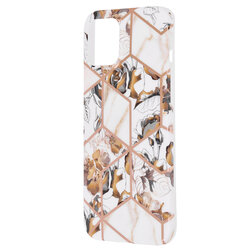 Husa iPhone 12 Pro Max Mobster Laser Marble Shockproof TPU - Model 1