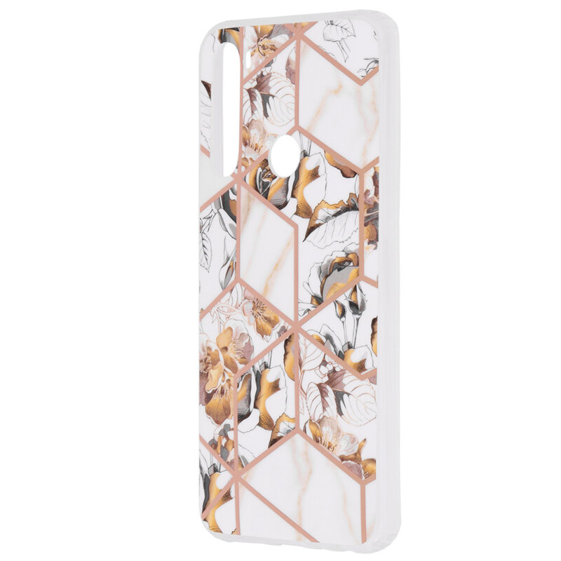 Husa Xiaomi Redmi Note 8 Mobster Laser Marble Shockproof TPU - Model 1