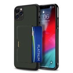 Husa iPhone 11 Pro Max Dux Ducis Pocard Series Cu Buzunar Exterior Pentru Carduri - Verde