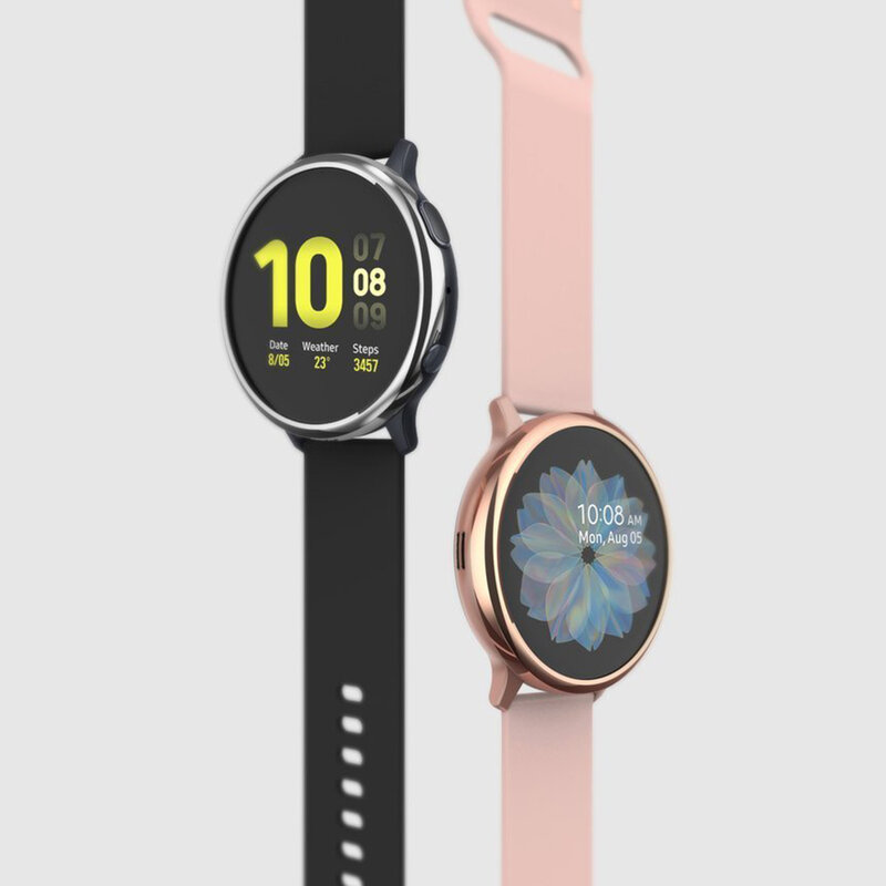 Bumper Samsung Galaxy Watch Active 2 44mm Ringke Bezel Styling - Glossy Rose Gold