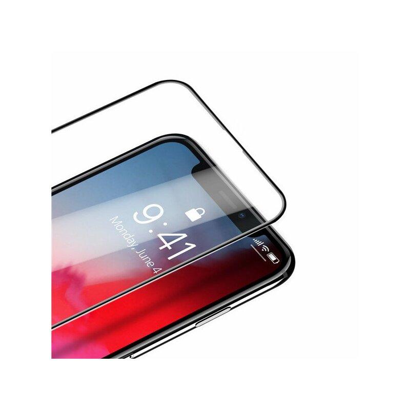 Folie Sticla iPhone XS Dux Ducis Tempered Glass - Negru