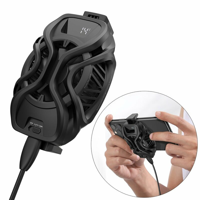Cooler Telefon Baseus Ventilator Racire Cu Afisaj LED - GMGA06-01 - Negru