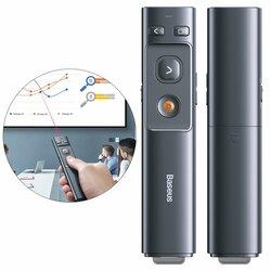 Telecomanda Wireless Baseus Pentru Prezentare Cu Pointer Laser - ACFYB-B0G - Gri