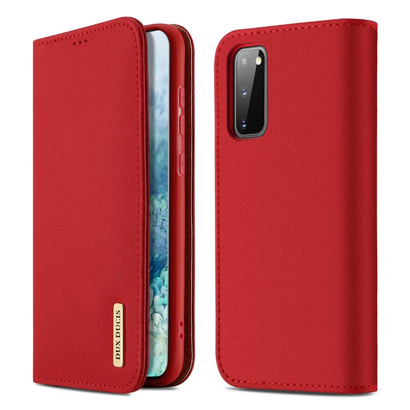 Husa Samsung Galaxy S20 5G Dux Ducis Wish Book - Rosu