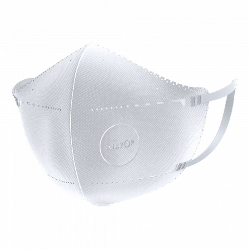 [Pachet 2x] Masca De Protectie Faciala Airpop Pocket 2 Straturi Adulti - Alb
