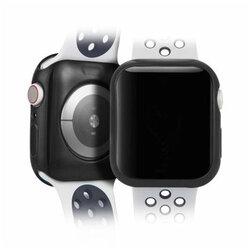 [Pachet 2x] Husa Apple Watch 5 44mm Dux Ducis Silicon - Negru si Transparent