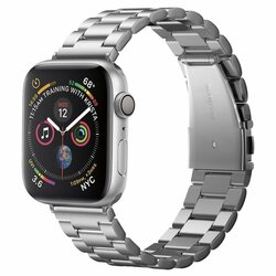 Curea Apple Watch 6 44mm Spigen Modern Fit - Argintiu