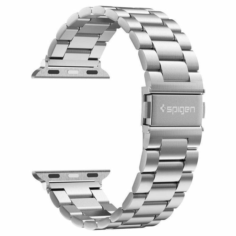 Curea Apple Watch 5 44mm Spigen Modern Fit - Argintiu