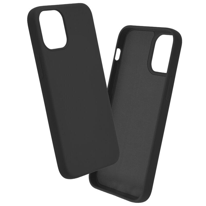 Husa iPhone 12 mini Mobster SoftTouch Lite - Negru