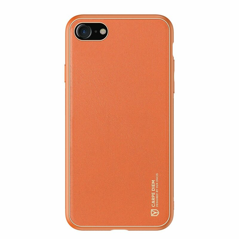Husa iPhone 7 Dux Ducis Yolo Din Piele Ecologica - Portocaliu
