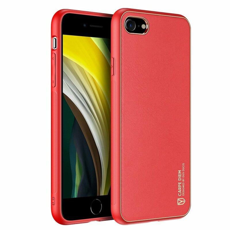 Husa iPhone 8 Dux Ducis Yolo Din Piele Ecologica - Rosu