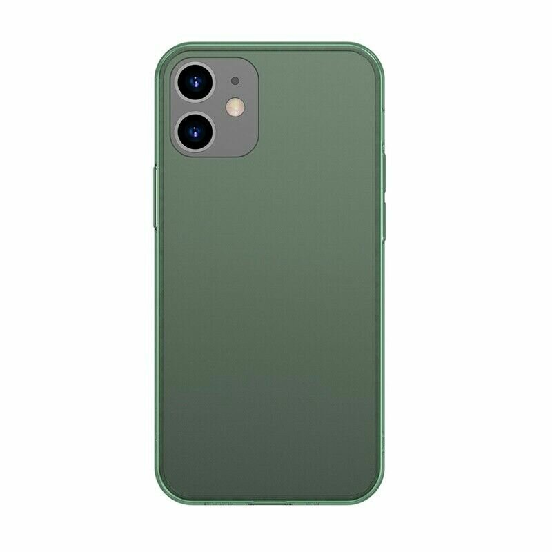 Husa iPhone 12 Baseus Frosted Glass Transparenta - WIAPIPH61P-WS06 - Verde