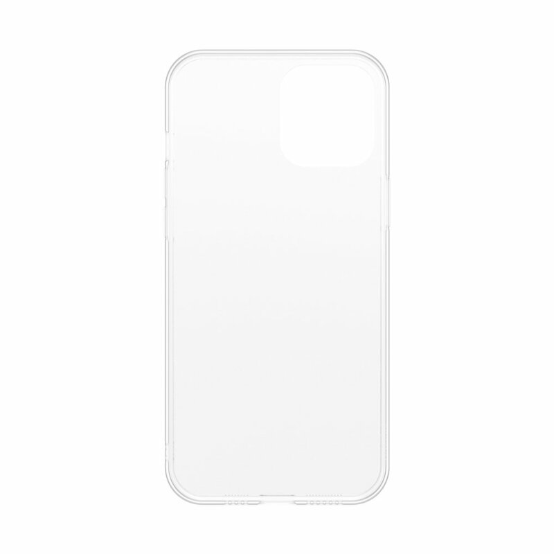 Husa iPhone 12 mini Baseus Frosted Glass Transparenta - WIAPIPH54N-WS02 - Alb