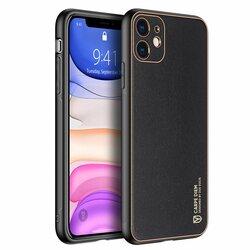Husa iPhone 11 Dux Ducis Yolo Din Piele Ecologica - Negru