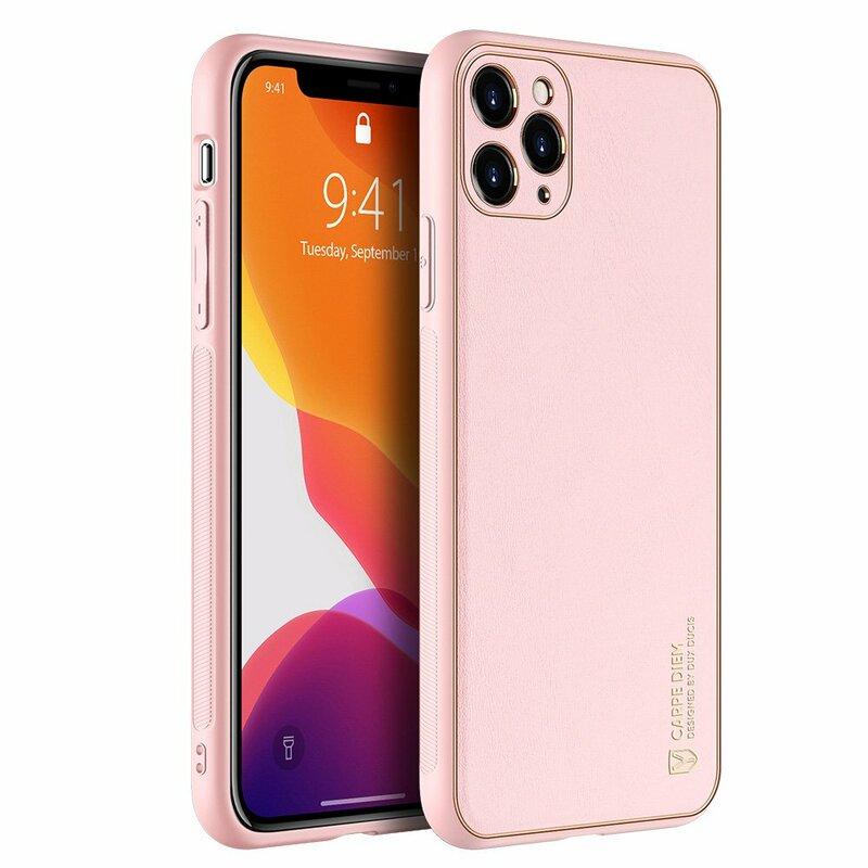 Husa iPhone 11 Pro Max Dux Ducis Yolo Din Piele Ecologica - Roz