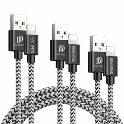 [Pachet 3x] Cablu De Date Dux Ducis K-one Lightning 2A - 0.25m/ 1m/ 2m - Negru