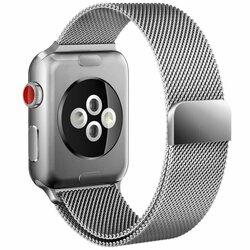 Curea Apple Watch SE 44mm Tech-Protect Milaneseband - Argintiu