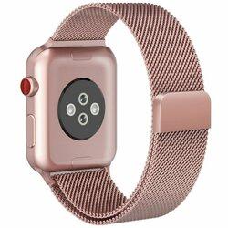 Curea Apple Watch 6 44mm Tech-Protect Milaneseband - Blush Gold