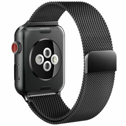 Curea Apple Watch 6 44mm Tech-Protect Milaneseband - Negru