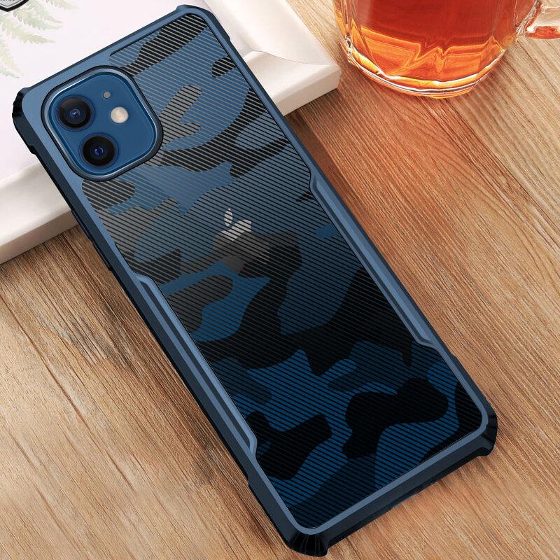 Husa iPhone 12 Mobster Up Fusion Camo - Albastru