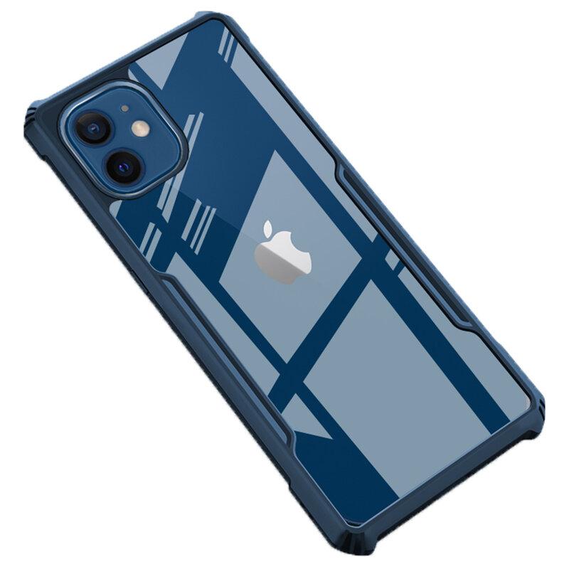 Husa iPhone 12 mini Mobster Up Fusion  Transparenta - Albastru