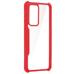 Husa Huawei P40 Blade Acrylic Transparenta - Rosu