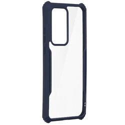 Husa Huawei P40 Pro Blade Acrylic Transparenta - Albastru