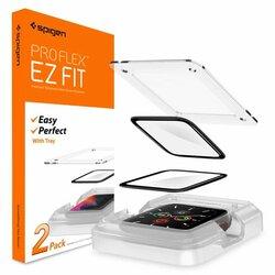 [Pachet 2x] Folie Apple Watch SE 44mm Spigen ProFlex EZ Fit Full Cover 8H - Black
