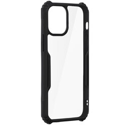 Husa iPhone 12 mini Blade Acrylic Transparenta - Negru