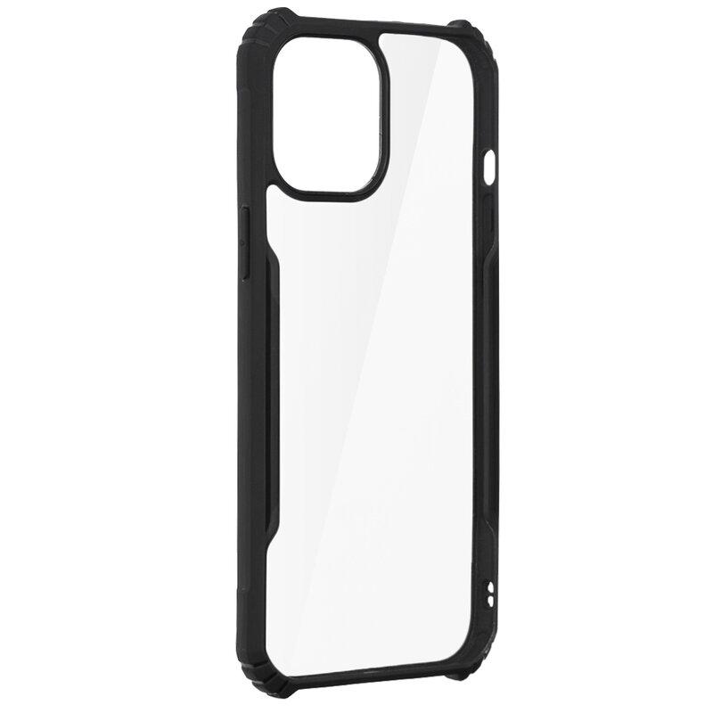 Husa iPhone 12 Pro Max Blade Acrylic Transparenta - Negru