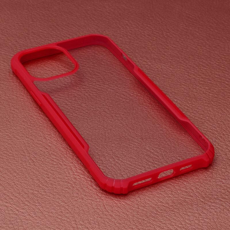 Husa iPhone 12 Pro Max Blade Acrylic Transparenta - Rosu