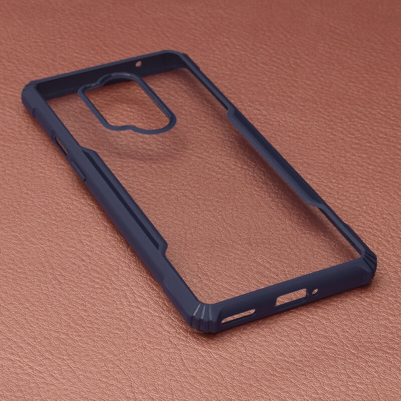 Husa OnePlus 8 Pro Blade Acrylic Transparenta - Albastru