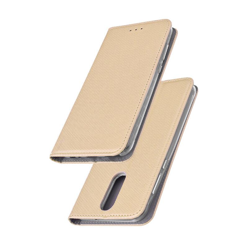 Husa Smart Book Huawei Mate 10 Lite Flip Auriu